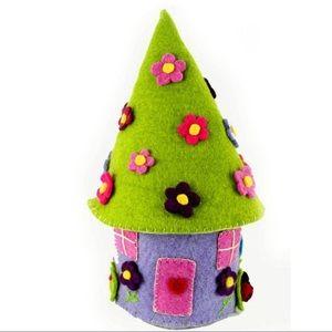 Purple Handmade Fairy House
